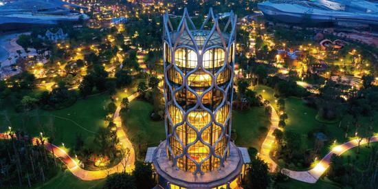 今日海花岛:观光塔
