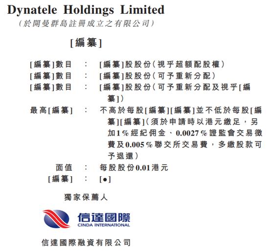 马来西亚电讯光缆安装公司Dynatele再次递表港交所