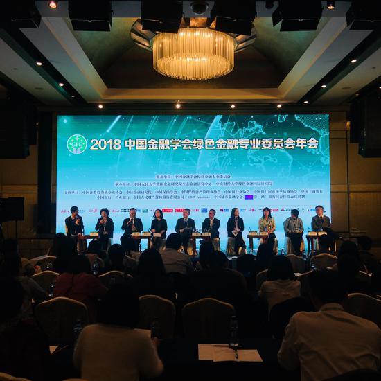 """图为论坛二:""""一带一路""""绿色投资与国际资本参与论坛现场"""