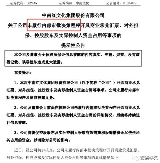 自曝违规遭深交所火速问询 中南文化董秘恐难逃问责