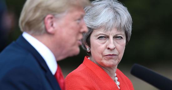 """特朗普称美英可能在英退欧后达成一项""""巨大的交易"""""""