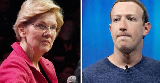 扎克伯格与伊丽莎白沃伦互呛:咱们俩谁更糟?