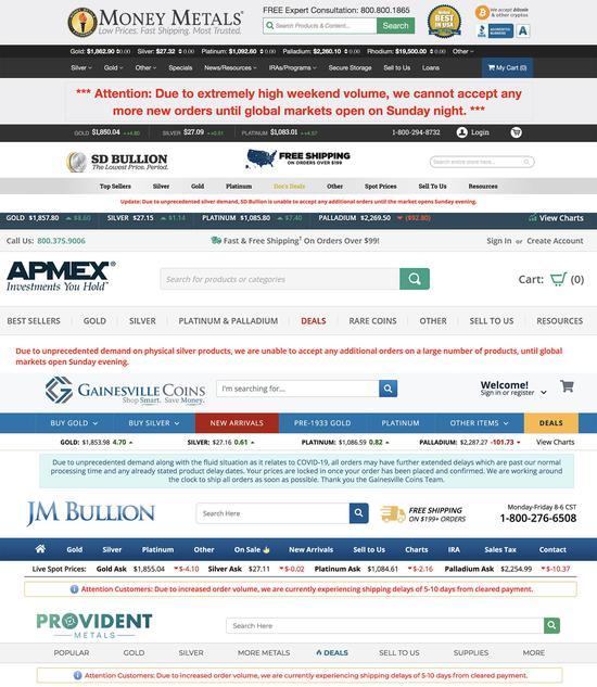 实物白银网站应接不暇 订单数量及规模双双创出纪录