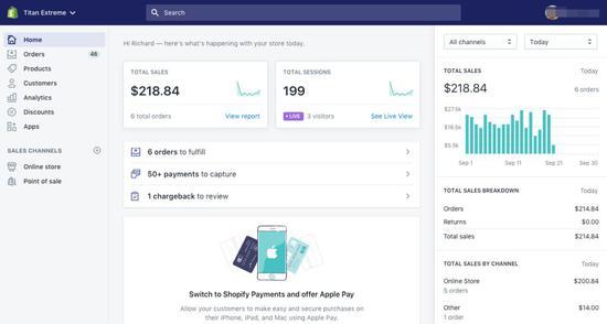 网店管理后台 | Shopify