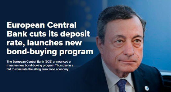 美股盘前:欧央行降息并重启QE 美期指攀升