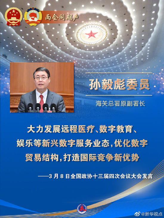 海关总署原副署长孙毅彪:优化数字贸易结构 打造国际竞争新优势