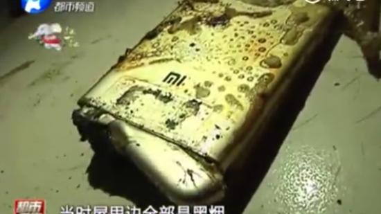 小米手机突然无故起火爆炸 导致1岁女童三度烧伤