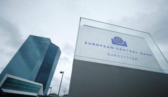 資料圖片:2017年12月,德國法蘭克福,歐洲央行總部。REUTERS/Ralph Orlowski
