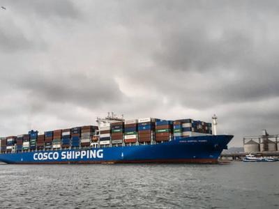 部分海运股走强 中远海控涨近7%中远海能涨近3%