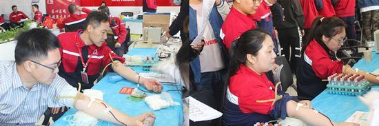 唐山东方雨虹(ORIENTAI YUHONG)举办无偿献血活动