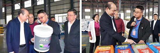 全国工商联专职副主席、党组成员邱小平一行调研岳阳东方雨虹