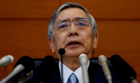 黑田东彦:日本央行购买ETF未扭曲股市 购买频率与规模正在下降