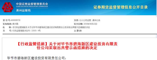 碧海新区建投将12亿公司债募资违规转借 收警示函