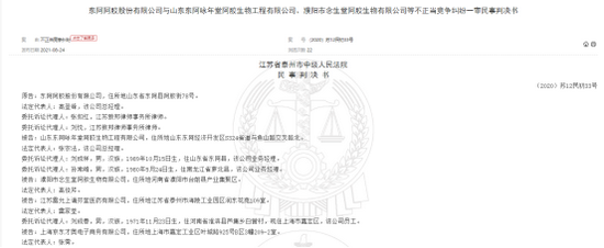 """碰瓷""""老字号"""":东阿阿胶将山寨商告上法庭  一审获赔30万"""