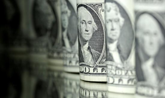 资料图片:2017年6月,美元纸币