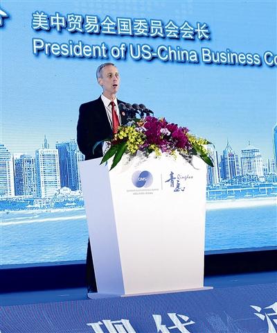 美中贸委会会长:期待中美开展更多更顺畅的贸易交流