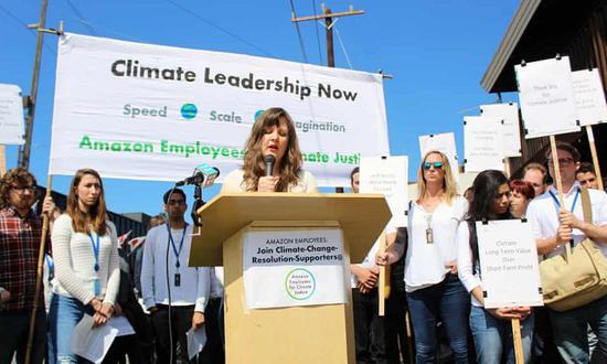 数百名亚马逊员工抗议公司的气候变化公关政策