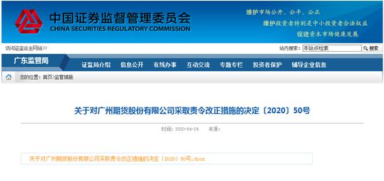 第一次做股票配资.为期货配资活动提供便利 广州期货被要求责令改正