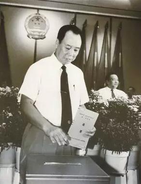 在深圳市第一届一次人代会上举行投票选举,厉有为当选深圳市第一届人大常委会主任。
