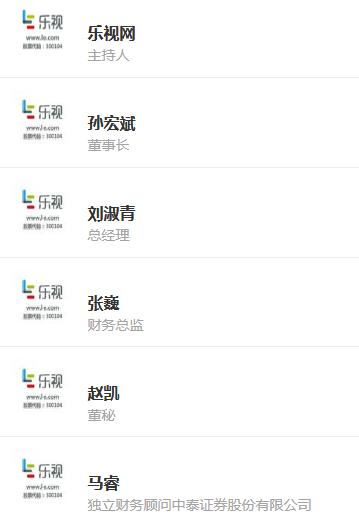 预告:乐视网明日举行投资者说明会 孙宏斌将回答提问