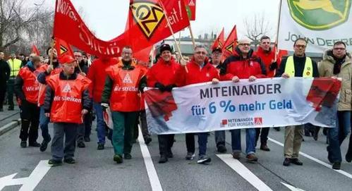 德系汽车三巨头受罢工潮波及 汽车制造业几乎停摆