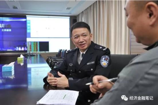 上海市公安局经侦总队政委胡斌勇 上海警方供图