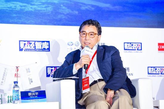 图为汉德工业促进资本主席蔡洪平