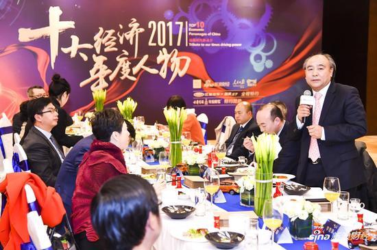 古井集团董事长梁金辉在晚宴上致辞