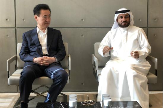 万达集团董事长王健林出访中东巴林和迪拜