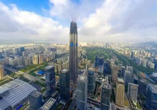 平安国际金融中心俯瞰图。