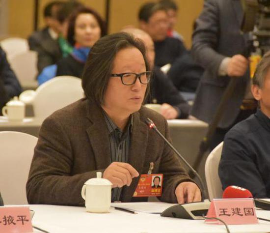 全国政协委员、中央电视台纪录频道导演王建国。