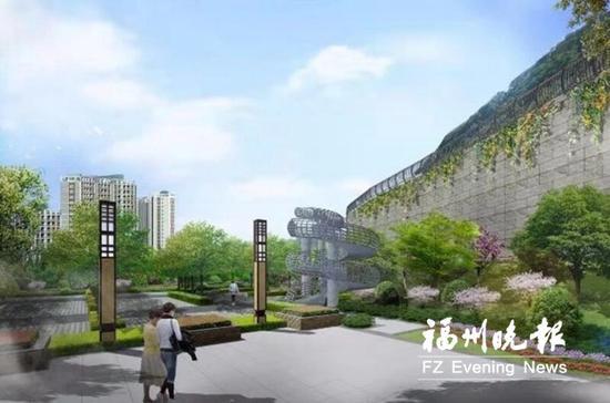 福清玉屏山公园预计6月完工