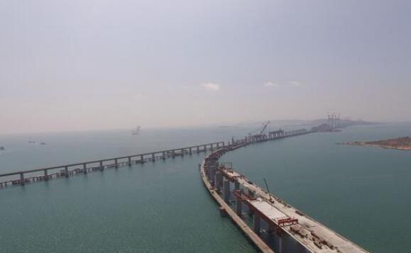 长平高速松下跨海特大桥桩基将完成 明年底通车