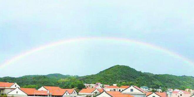凌空彩虹伴斜阳 今起三天厦门有阵雨雷阵雨突袭