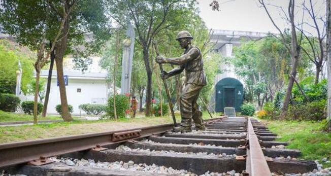 """福州首座铁路公园""""装扮一新"""" 位于马尾君竹河畔"""