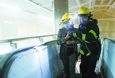 厦门地铁1号线开展消防演练
