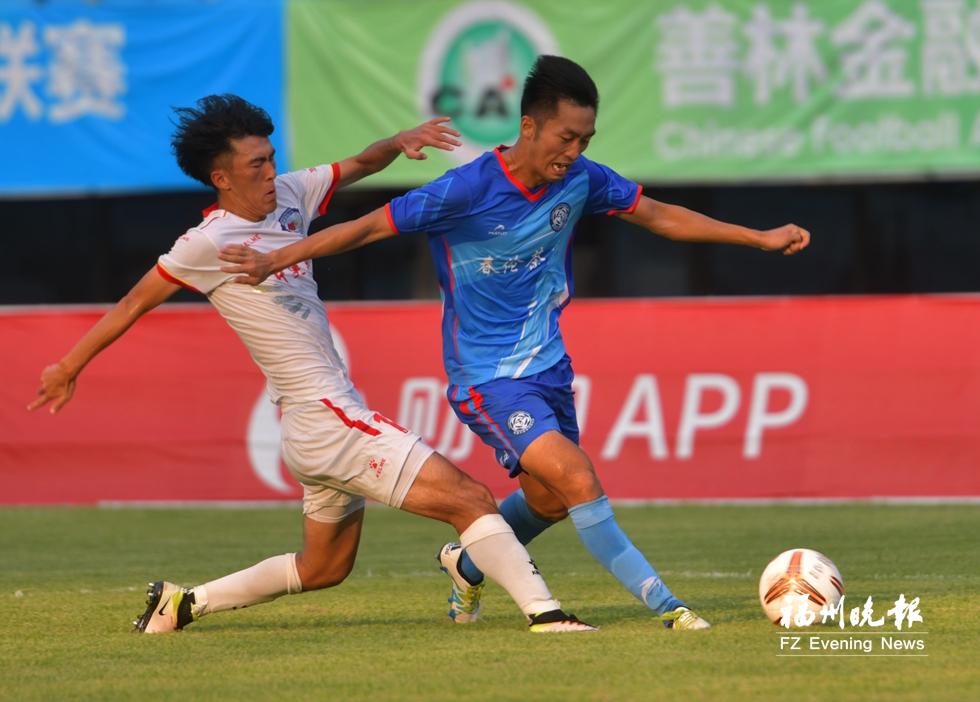 争夺中国足球乙级联赛资格 福建天信首回合落败
