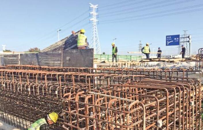 同翔大道洪新路互通区主体已施工完成 进入收尾阶段