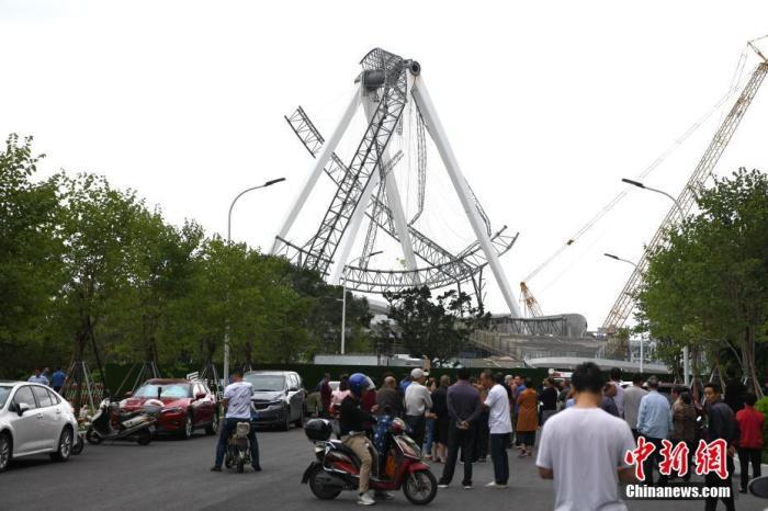 福州在建摩天轮外围轮毂脱落 无人员伤亡