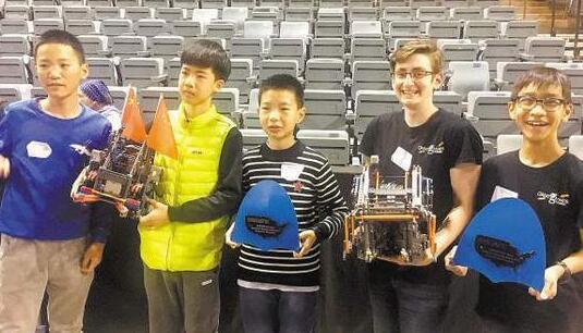厦门3少年夺机器人美国赛桂冠 平均年龄仅12岁