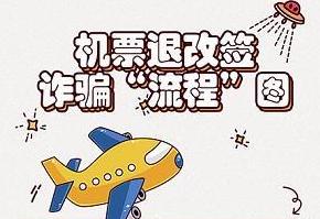 """厦警方发布诈骗流程图 揭穿""""特价机票退改签""""新骗局"""