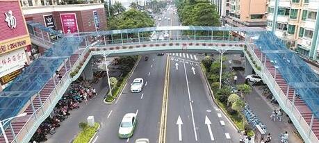 泉州宝洲街万达人行天桥通过验收 近日将开放通行