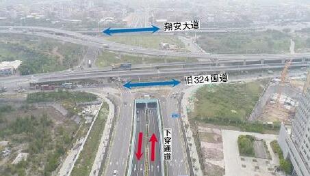 民安大道下穿通道7月初通车 方便同安南与翔安北互通