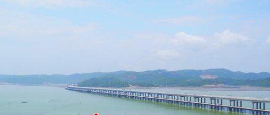 漳州最长跨海大桥贯通 一端在云霄一端接漳浦
