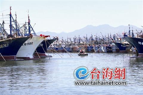 ◆厦门渔船进入高崎渔港避风