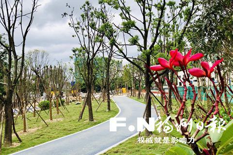 这处串珠公园将在下周基本完成建设并对市民开放