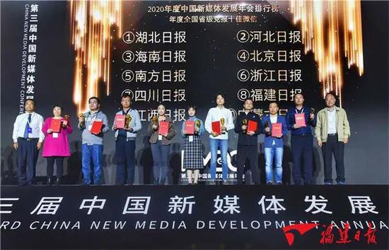 恭喜!福建日报微信号获全国第八!