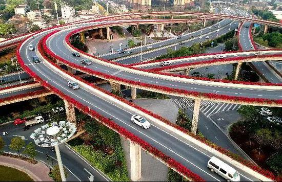 福州高架桥。吕明 摄