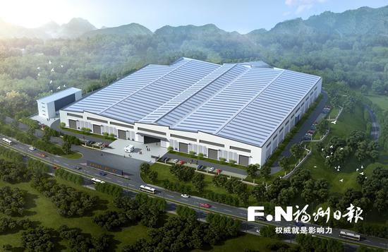 中建钢结构(福州)工厂项目效果图。
