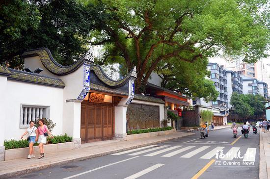 鼓楼区鳌峰坊特色历史文化街区焕然一新。